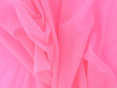Fine stretch net Flamingo pink