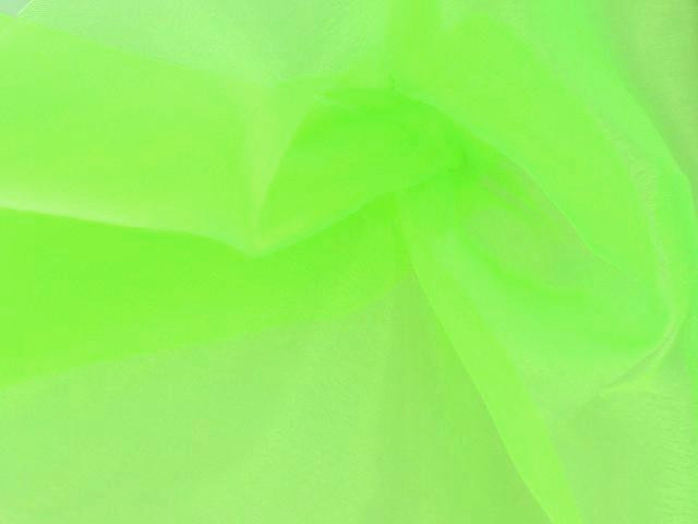 Organza Electric Green