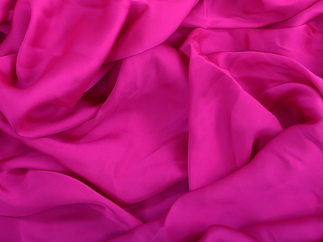 Satin georgette Electric pink