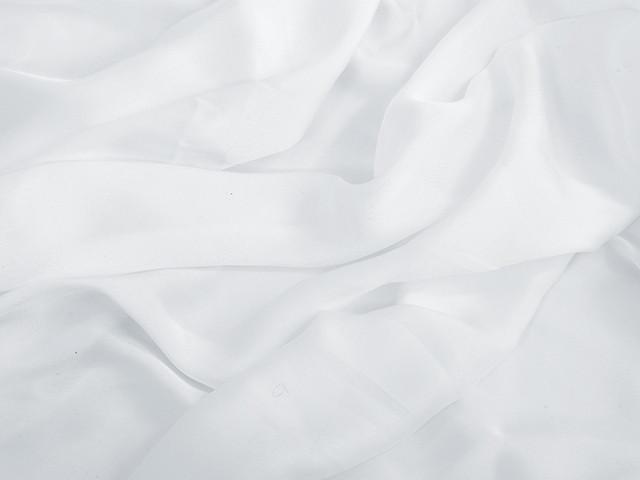 Satin georgette White