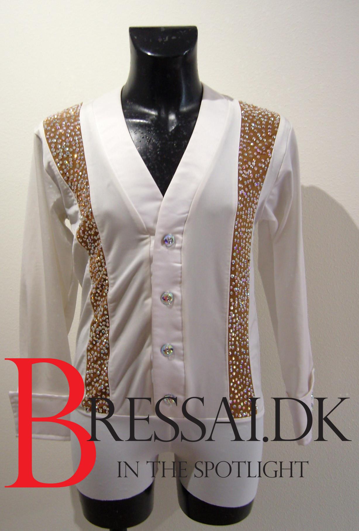 Hvid latinskjorte