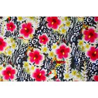 Floral leopard lycra