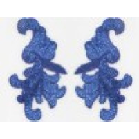 Sequin bead leaf motif Blueberry