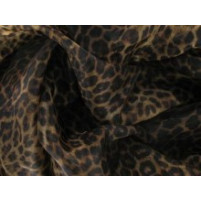 Animal print on organza wide