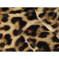 Animal print on stretch velvet