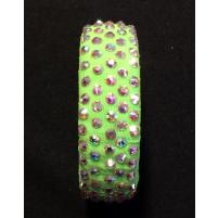 Armbånd Fluorescent green med Crystal AB
