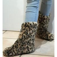 Warm up boots Brun