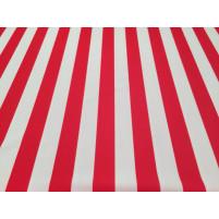 Rød og hvid striped lycra