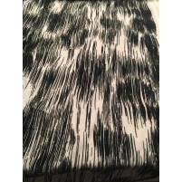 Stripes on stretch net white