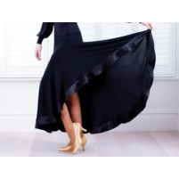Ballroom satin trim skirt
