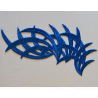 Bamboo motif Ocean blue