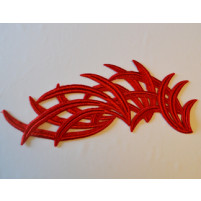 Bamboo motif Rød