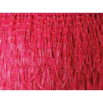 Bead fringe drop Electric pink
