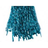 Bugle bead dropper bunch Blue zircon