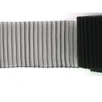Pleated crinoline Black