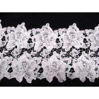 Rose crochet ribbon White