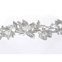 Tropical flower ribbon Silver