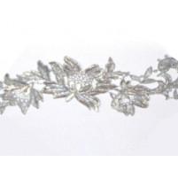 Tropical flower ribbon Silver