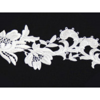 Tropical flower ribbon White
