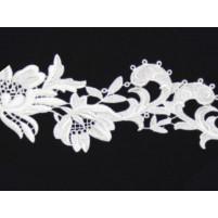 Tropical flower ribbon White