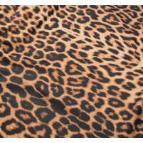 Animal print på satin black/saffron
