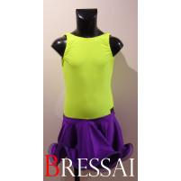 Lime/lilla latin kjole