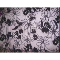 Flower flock on stretch net Black