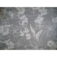 Flower flock on stretch net White