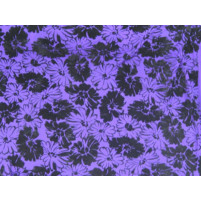 Floral parade flock on stretch net Purple rain
