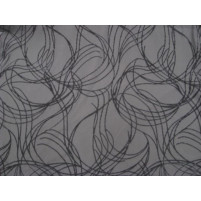 Abstract flock on stretch net Black
