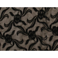 Tulip flock on stretch net Black