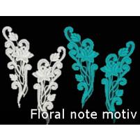 Floral note motif