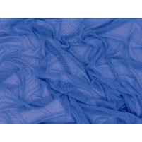 Fine stretch net Electric blue