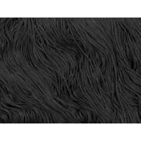Stretch fringe Black