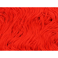 Stretch fringe Fluorescent red