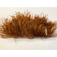 Ostrich feather fringe Mocha