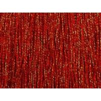 Rød iriserende stræk fryns