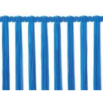Electric blå stræk tassel fryns