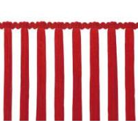 Rød stræk tassel fryns