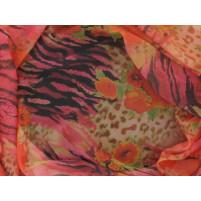 Animal floral georgette print Pink