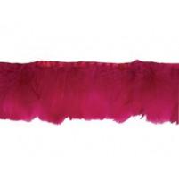 Goose feather fringe Fuchsia pink