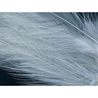 Hackle feather fringe Silver