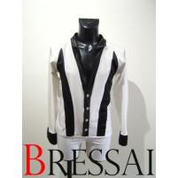 Hvid / sort latinskjorte