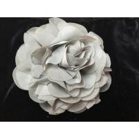Stor georgette blomst sølv
