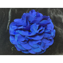 Stor georgette blomst dark blue