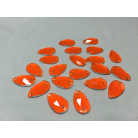 Teardrop sew on Orange
