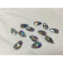 Teardrop sew on Crystal AB 18 mm