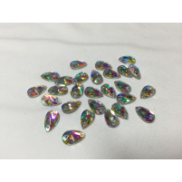 Teardrop sew on Crystal AB 12 mm