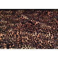 Cheetah print on smooth velvet brun