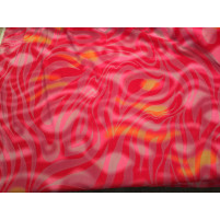 Pink animal velvet on net